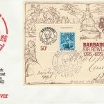 Barbados Sir Rowland Hill mini sheet FDC 1979 - illustrated cover