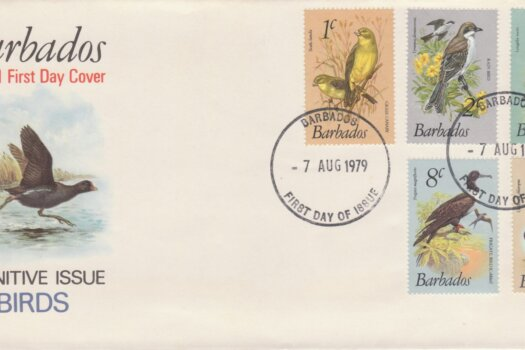 Barbados 1979 Birds Definitives FDC - illustrated cover (1)