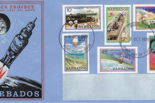 Barbados 1979 Space Project FDC - illustrated cover