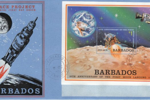 Barbados 1979 10th Anniversary of the First Mood Landing FDC - illustrated cover