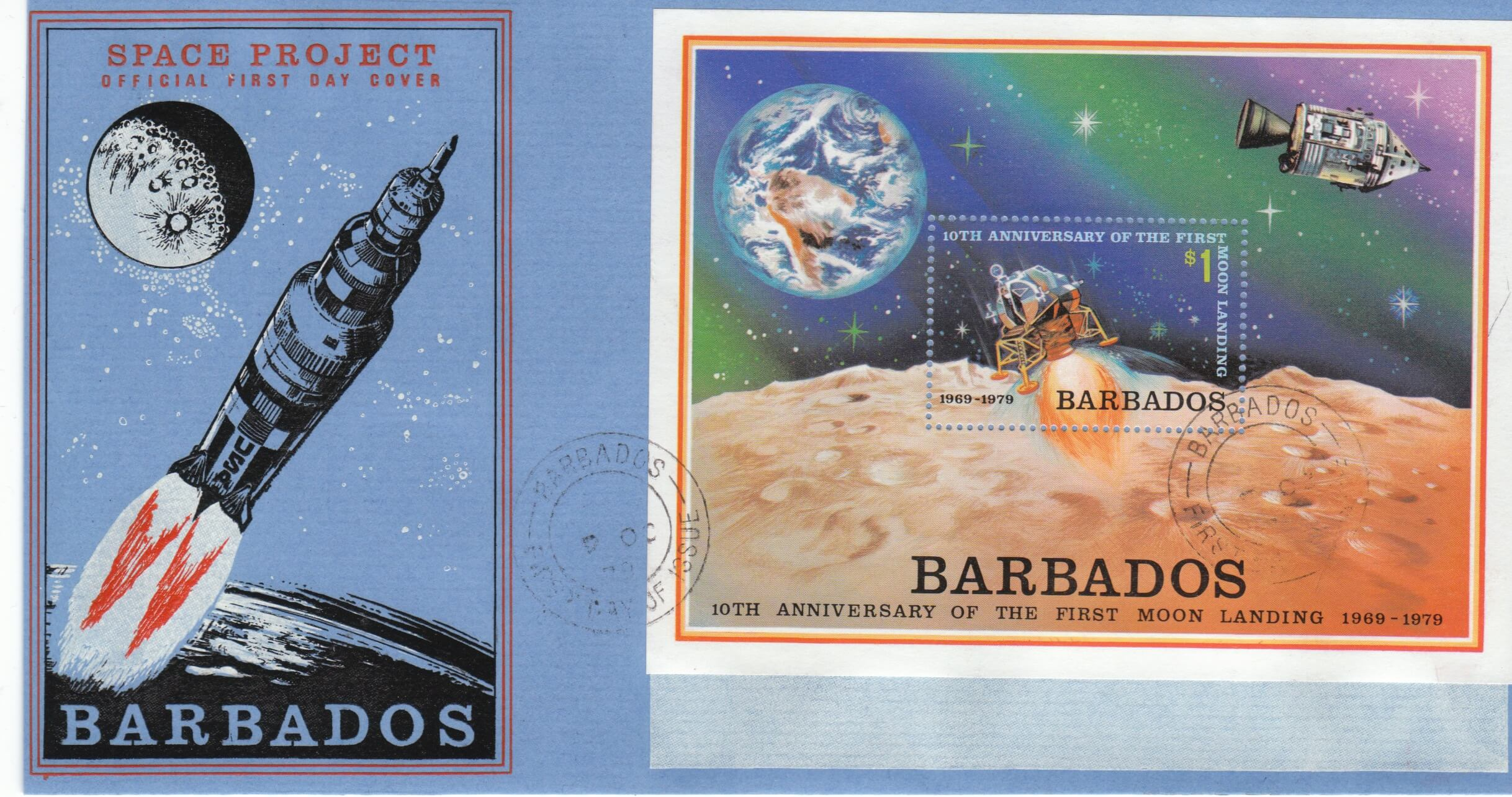 Barbados 1979 | SGMS 645 Space Project Commemorations Mini Sheet