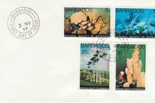 Barbados Natural Beauty of Barbados FDC 1977 - plain cover