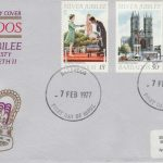 Barbados The Queen's Silver Jubilee FDC 1977 - illustrated cover