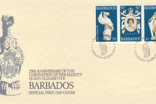 Barbados 1978 25th Anniversary of the Coronation of QEII FDC - illustrated cover