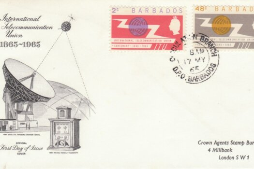 Barbados 1965 ITU Centenary FDC - illustrated cover