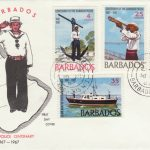 Barbados Harbour Police Centenary FDC 1967 - illustrated cover