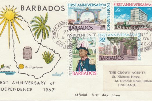 Barbados 1967 First Anniversary of Independence FDC - illustrated cover