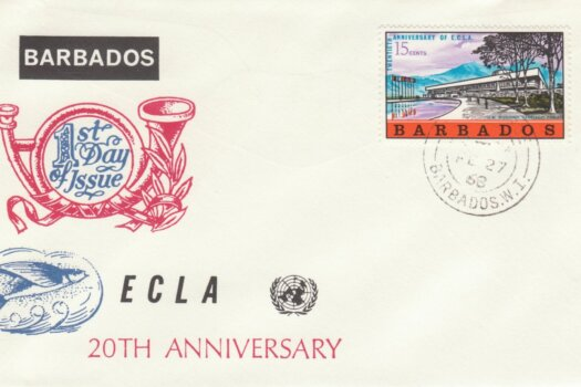 Barbados 1968 ECLA FDC - illustrated cover