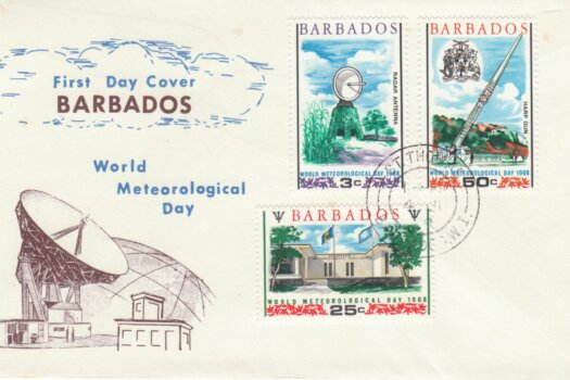 Barbados 1968 World Meteorological Day FDC - illustrated cover