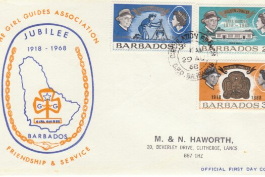Barbados 1968 The Girl Guides Association FDC - illustrated cover