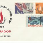 Barbados International Human Rights Year FDC 1968 - illustrated cover