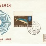 Barbados $5 Dolphin definitive FDC 1969 - illustrated cover