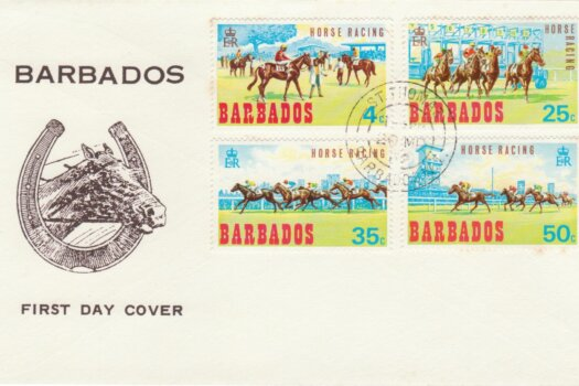 Barbados 1969 Horse Racing FDC - illustrated FDC