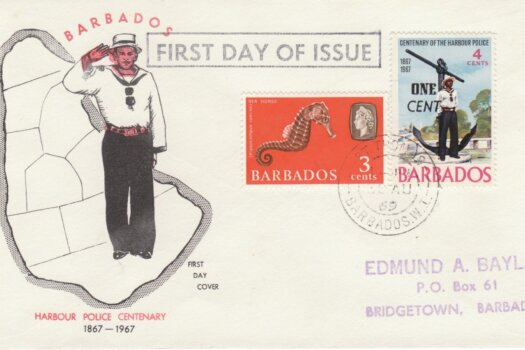 Barbados 1969 - Harbour Police Centenary FDC