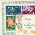 Flowers of Barbados mini sheet FDC 1970 - plain cover