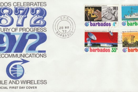 Barbados 1972 Telecommunications in Barbados FDC - illustrated cover
