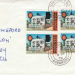Barbados 1974 4c overprint FDC - plain cover