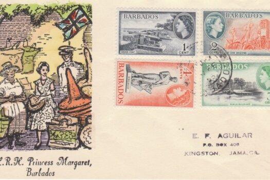 Princess Margaret Commemorative Cover Barbados 1955