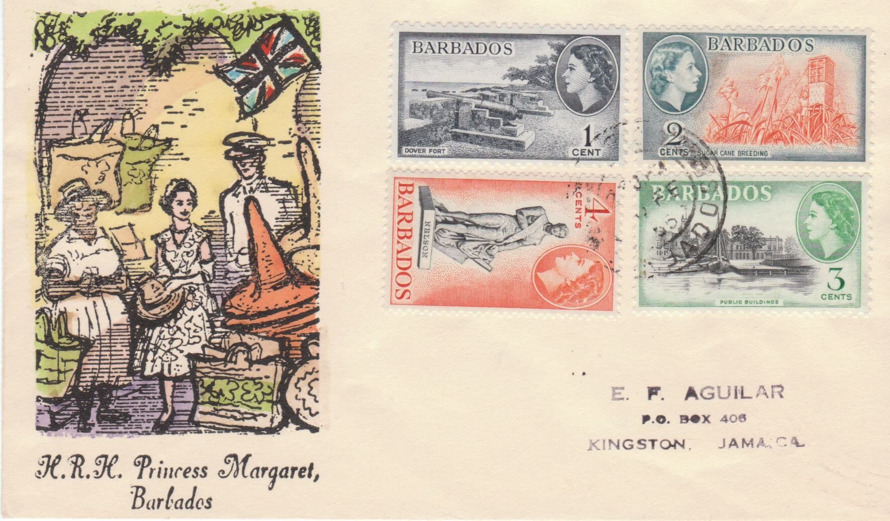 Princess Margaret Commemorative Cover Barbados 1955