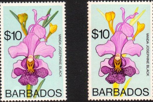 Barbados SG524 and 524a