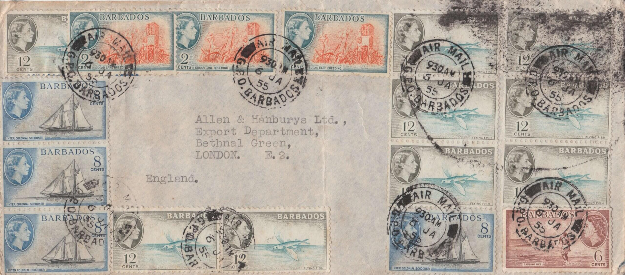 Barbados 1955 AIr Mail