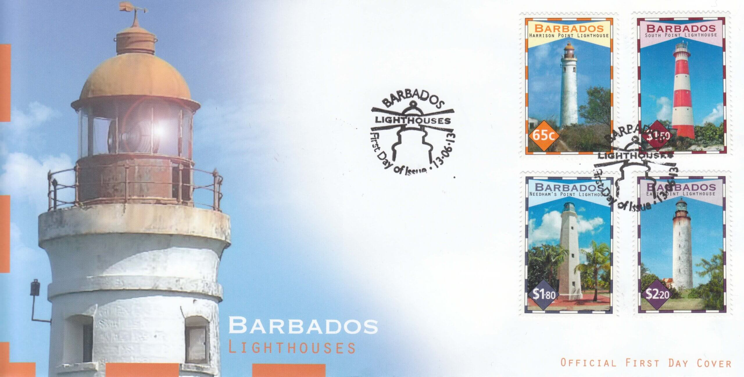 Lighthouses First Day Cover Lighthouses First Day Cover