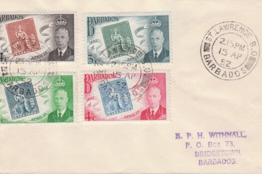 Barbados Stamp Centenary FDC