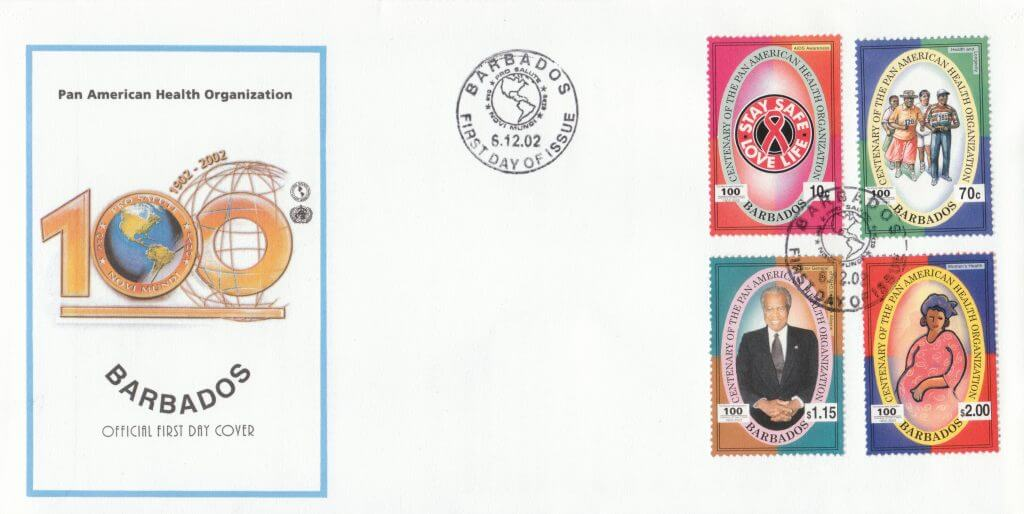 Barbados Stamps - Pan American Health Organisation 2002