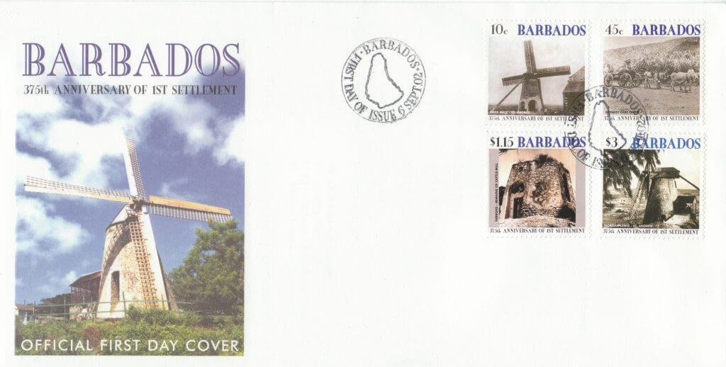 Barbados Stamps - 375th Anniversary of Settlement 2002