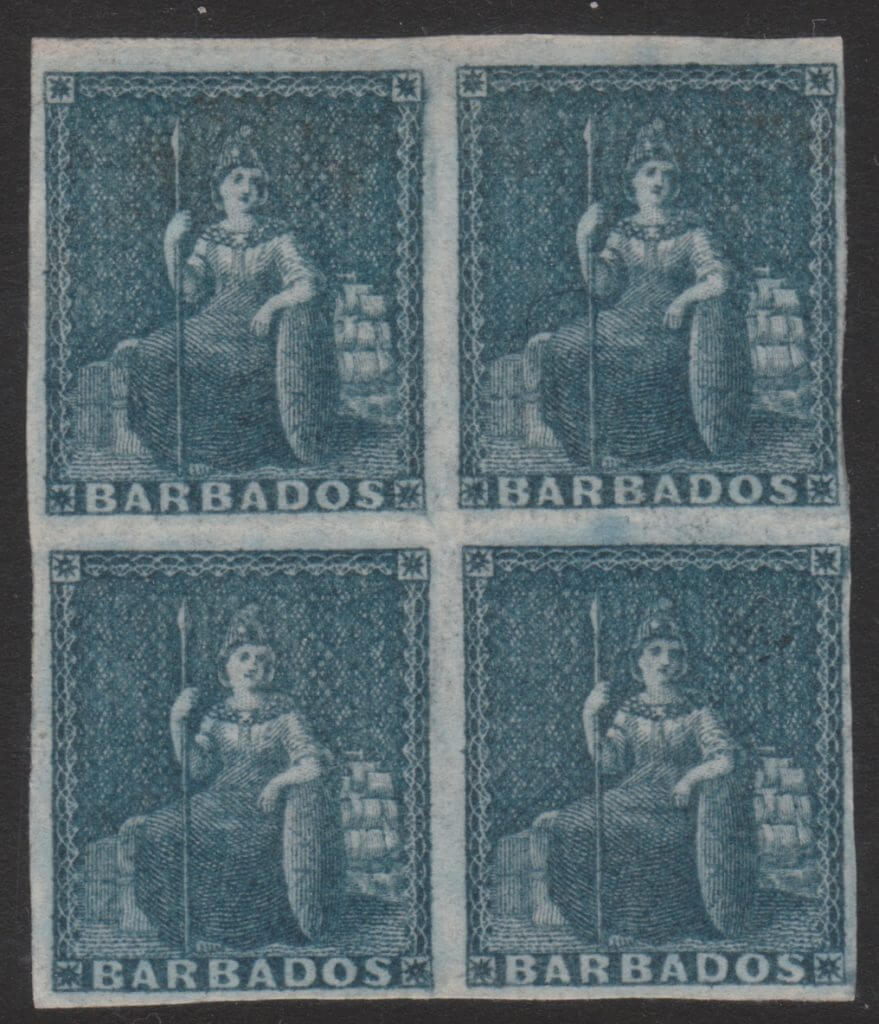 SG5a Block of four imperforate