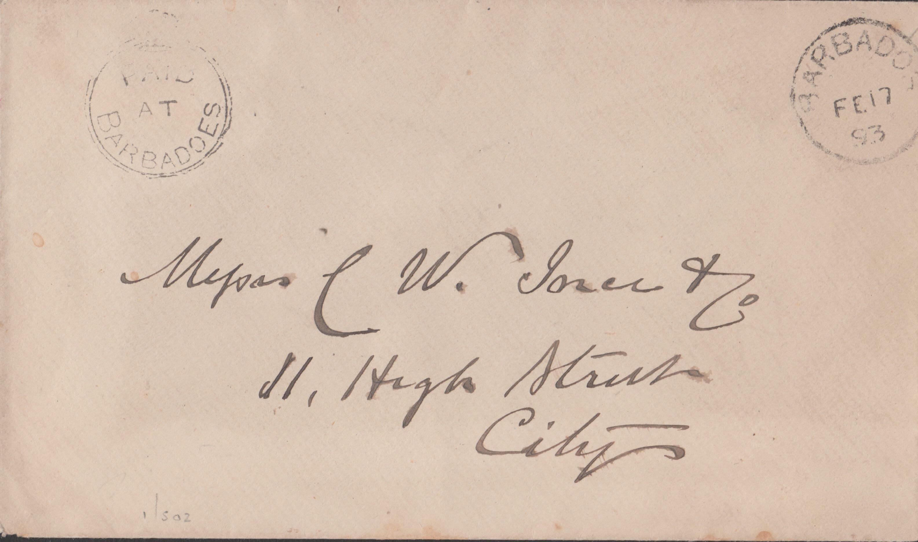 Barbados Cover 1893
