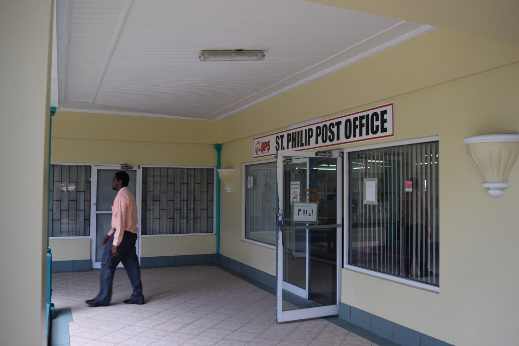 The entrance to St Philip Post Office, Barbados