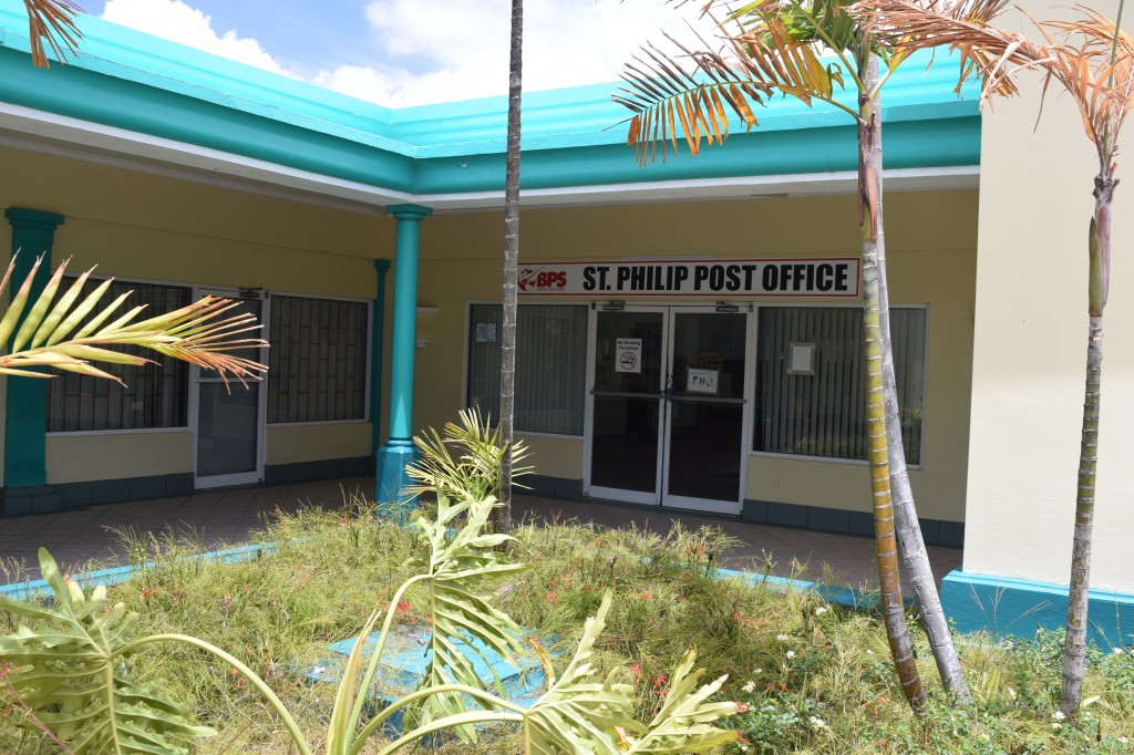 St Philip Post Office, Barbados as seen from the courtyard