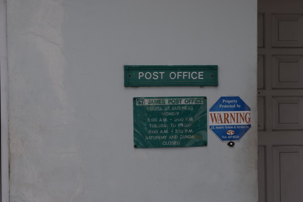 St James Post Office entrance, Holetown. Barbados