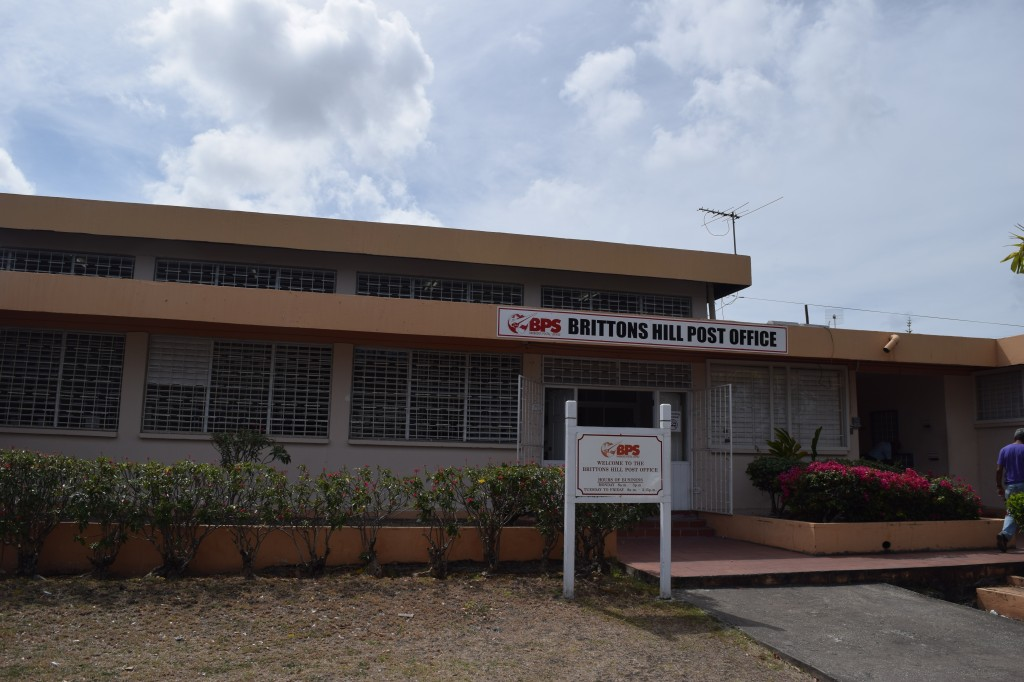 Entrance to Brittons Hill Post Office, Barbados