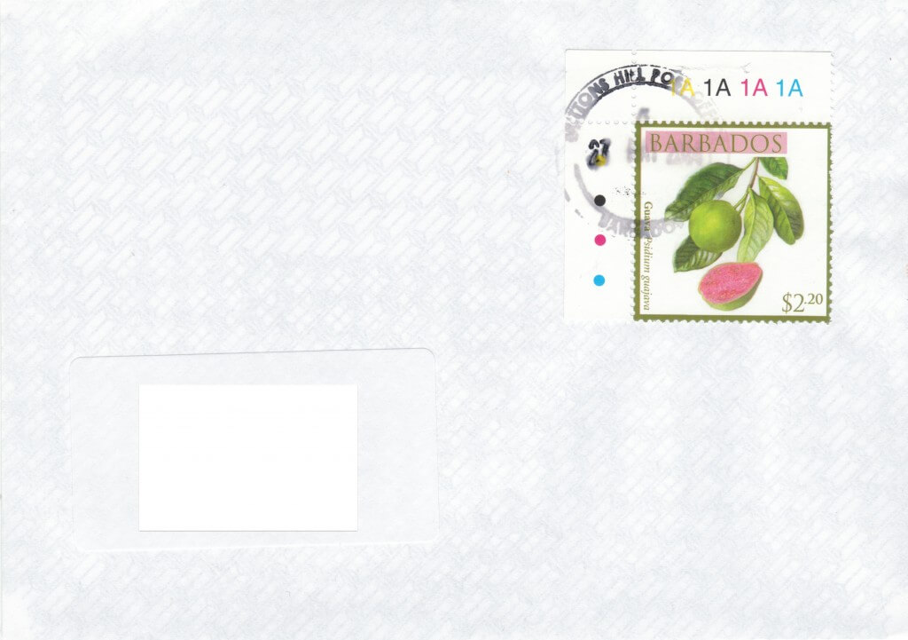 Cover from Brittons Hill Post Office, Barbados