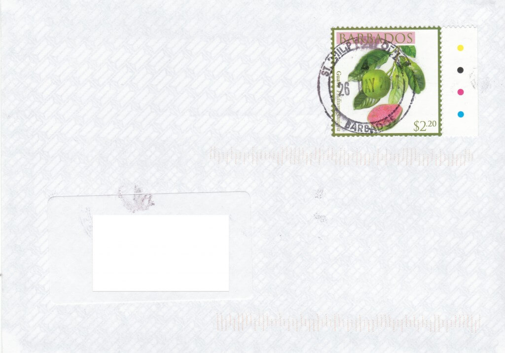 Cover from St Philip Post Office Barbados