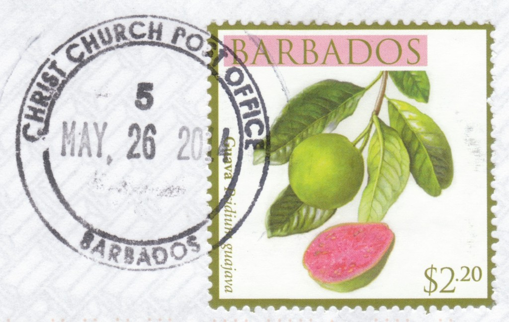 Cancel from Christ Church Post Office, Barbados