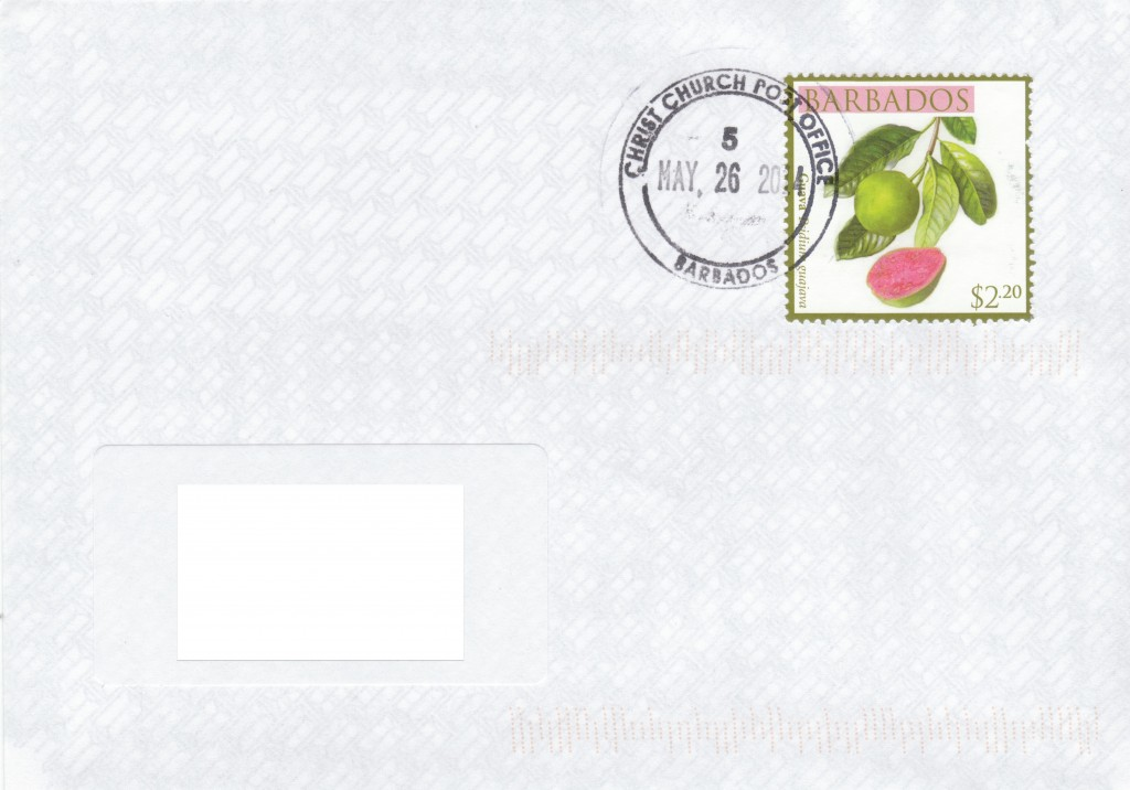 Cover from Christ Church Post Office, Barbados