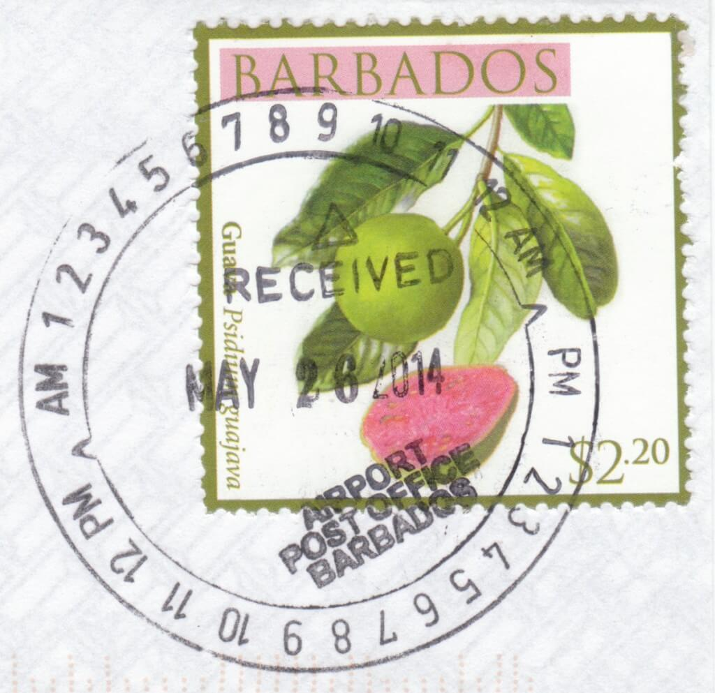 Cancel from GAIA Post Office, Barbados