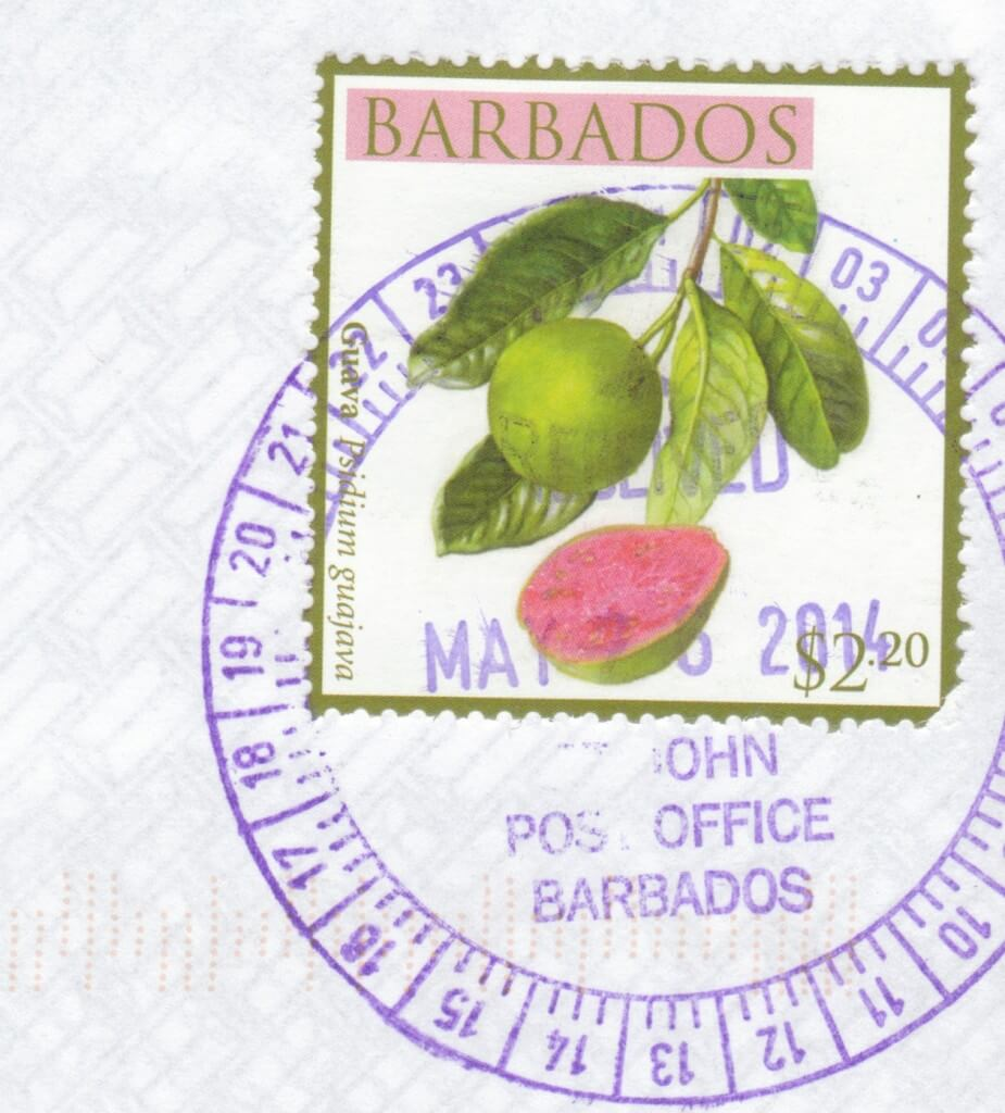 Cancel from St John Post Office, Barbados
