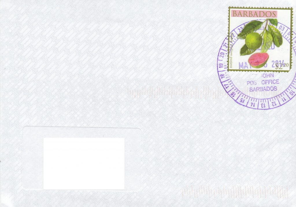 Cover from St John Post Office, Barbados