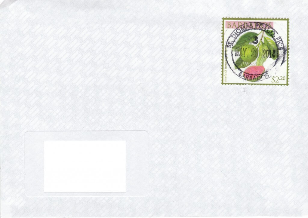Cover from St Thomas Post Office, Barbados