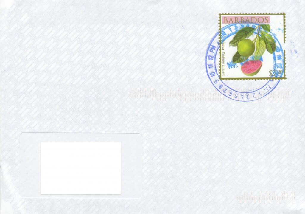 Cover from St James Post Office, Holetown