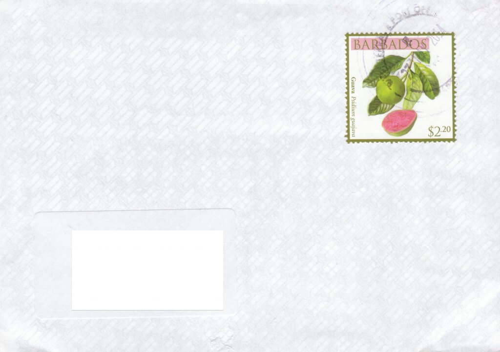 Cover from West Terrace Post Office, Barbados