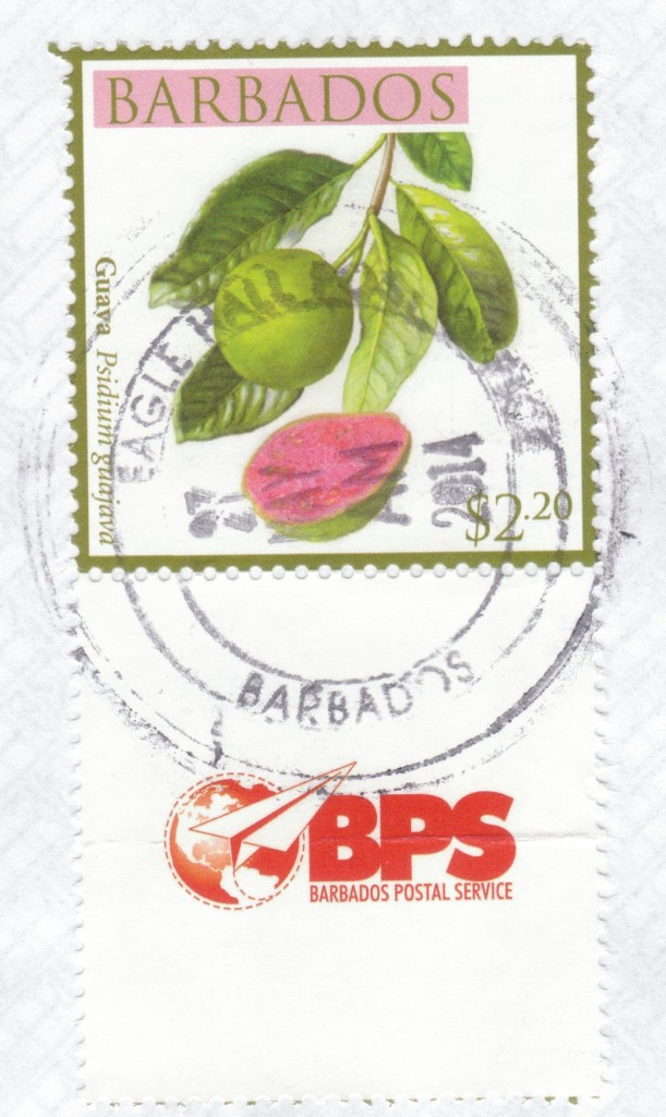 Cancel from Eagle Hall Post Office, Barbados