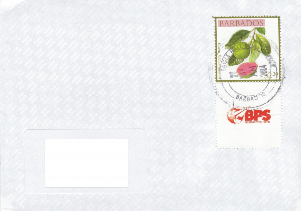 Cover from Eagle Hall Post Office, Barbados