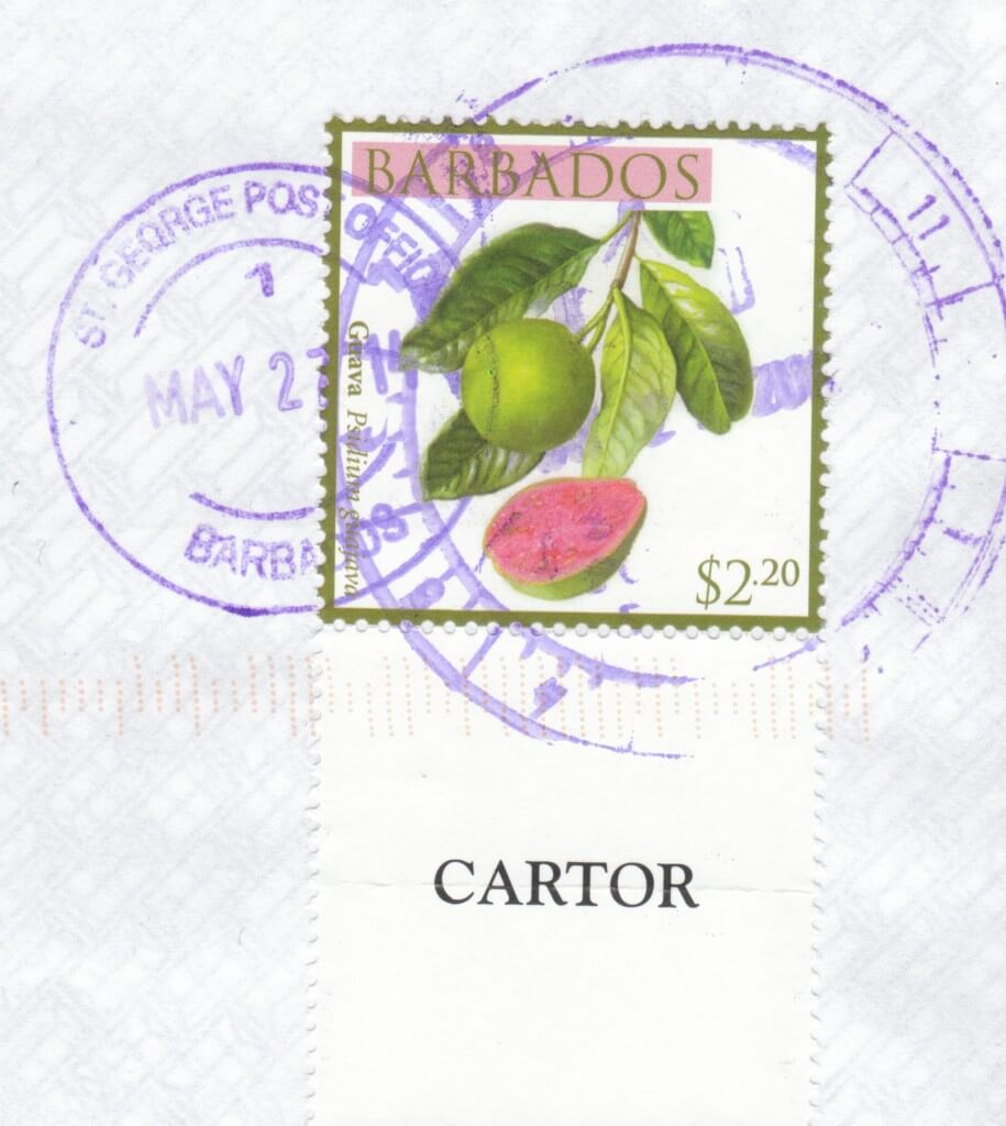 Cancel from St George Post Office, Barbados