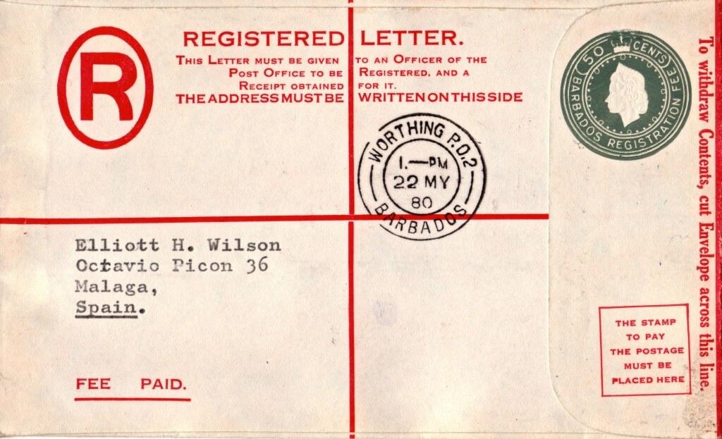 Registered Letter from Barbados