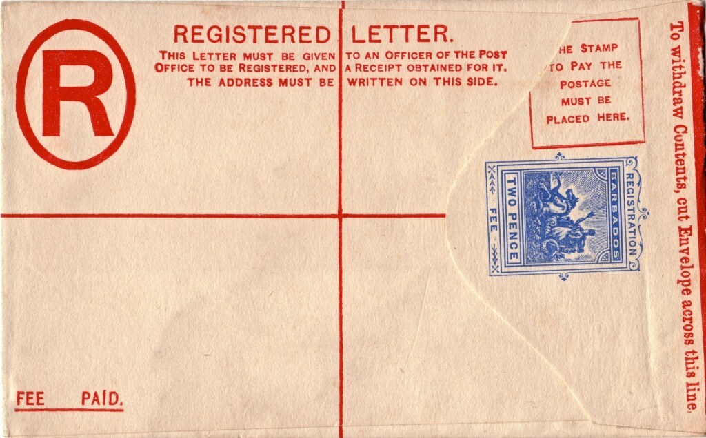 Barbados Registered Letter 1902